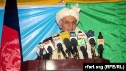 Кандидат в президенты Афганистана Ашраф Гани. Кабул, 10 марта 2014 года.