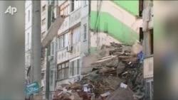 В Астрахани от взрыва газа рухнул дом