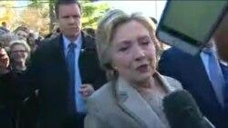 Klinton saýlawlarda ses berdi