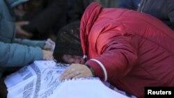 Похороны Алексея Алексеева, погибшего в авиакатастрофе над Синаем в ноябре 2015 года
