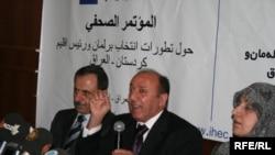 مؤتمر صحفي عقدته في أربيل المفوضية العليا المستقلة للانتخابات في العراق