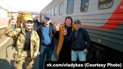 Оксана Владыка с активистами