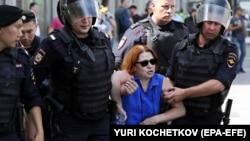 Задержания на акции протеста в Москве 27 июля 2019 года