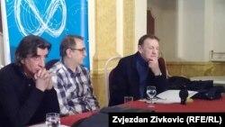 S lijeva na desno: Edin Pobrić, Almir Bašović i Muhamed Dželilović