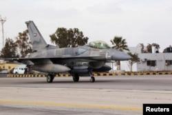 Истребитель-бомбардировщик F-16 ВВС ОАЭ в Йемене. Ноябрь 2018 года