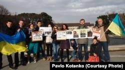 Українці проти диктатури та державного терору, м. Токіо, січень 2014 року