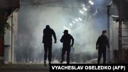 Протесты в Бишкеке. 5 октября 2020 года.