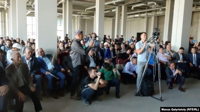 Участники «курултая» в Алматы. 7 сентября 2019 года.