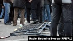 Од вчерашните протести на тутунарите пред Собранието