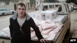 Abdul-Rahman (Peter) Kassig is seen while doing aid work in Syria in this undated photo.