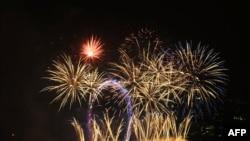 Лондондағы жаңа жылдық отшашу. 1 қаңтар 2011 жыл.