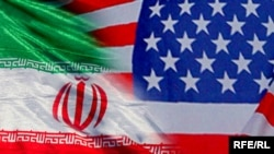 Iran & US flags
