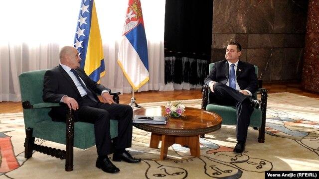 Vjekoslav Bevanda i Ivica Dačić u Beogradu, 4. februar 2013.