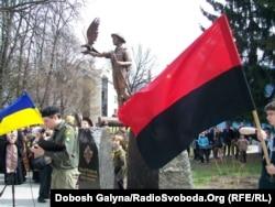 Меморіал загиблим пластунам. Івано-Франківськ, 12 квітня 2012 року