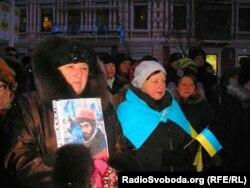 Мітынг у Днепрапятроўску ў памяць ахвяраў сутычак у Кіеве