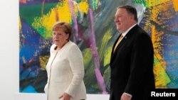 Ангела Меркель и Майк Помпео встретились в Берлине, 31 мая 2019 года