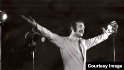 Iranian performer and pop star Fereydoun Farrokhzad, undated.