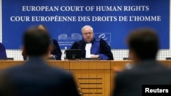 The European Court of Human Rights began being flooded with complaints about alleged rights violations by Kyiv in the Donbas not long after Russia seized Crimea and began supporting separatists in eastern Ukraine. (file photo)