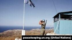 Військовослужбовець місії ООН на чергуванні