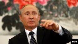Չինաստան - Ռուսաստանի նախագահ Վլադիմիր Պուտինը G20 գագաթնաժողովին հետևած ասուլիսի ժամանակ, Հանչժոու, 5-ը սեպտեմբերի, 2016թ.