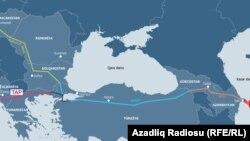 Տրանս-Ադրիատիկ խողովակաշարի քարտեզը