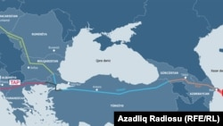 Мапа за Транс-јадранскиот гасовод.