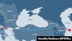 Azerbaijan -- Trans Adriatic Pipeline map
