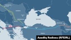 ტრანს-ადრიატიკის მილსადენის რუკა