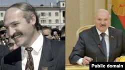 Аляксандар Лукашэнка ў 1994-м і 2017-м.