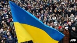 Вторая годовщина Майдана во Львове