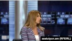 Заруи Постанджян в студии Азатутюн ТВ (архив)