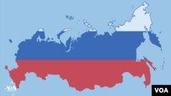 رنگهای پرچم ملی روسیه به روی نقشهاش