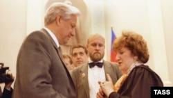Галина Старовойтова и Борис Ельцин. 1991 год