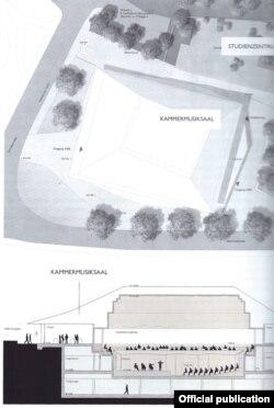 Proiectul noii săli de concertde la Kronberg