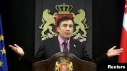 Prezident Mihail Saakaşwili, Tbilisi, 2008.