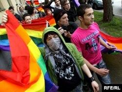 Забаронены гей-парад у Менску. 2010 год