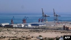 The Gwadar port on the Arabian Sea in Pakistan's southwestern Balochistan province.