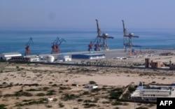 Gwadar port on the Arabian Sea.