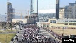 Xocalı faciəsi ilə bağlı Azadlıq meydanından başlayan yürüş, Baku, 26 fevral 2017