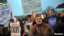 Demonstracije u Sloveniji 21.12.2012.