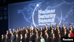 World leaders pose for a group picture at the U.S. Nuclear Security Summit