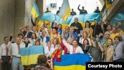 Акція українців Португалії проти дій Путіна, Лісабон, 15 квітня 2014 року