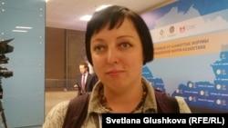 «Экомузей» қоғамдық ұйымы директорының жұртшылықпен байланыс жөніндегі орынбасары Анна Андрейчук. Астана, 25 қараша 2016 жыл.