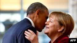 Барак Обама и Ангела Меркель (Берлин, 17 ноября 2016 г.)