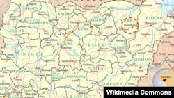 داماتورو بر نقشه با نقطهچین قرمز مشخص شده است