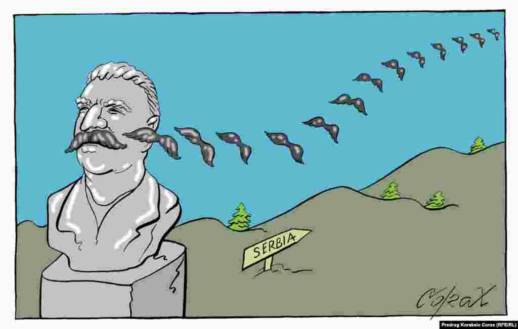 """Stalin"". Serbiyalı karikaturaçı Predraq Korakşiç (Koraks)."