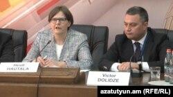 Avronestin həmsədrləri Heidi Hautala və Viktor Dolidze