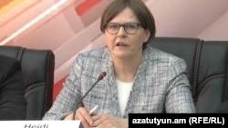 Депутат Европейского парламента, глава наблюдательской миссии Европарламента в Армении Хейди Хаутала (архив)