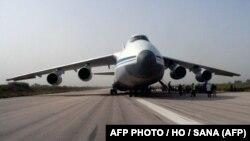 Latakya aeroportuna enən Rusiya təyyarəsi