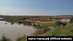 Будівництво дамби на річці Булганак, село Бондаренкове, Ленінський район, 24 серпня 2021 року